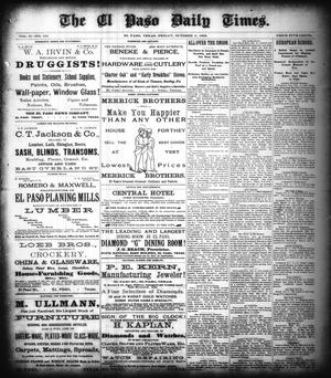 Primary view of object titled 'The El Paso Daily Times. (El Paso, Tex.), Vol. 2, No. 184, Ed. 1 Friday, October 5, 1883'.