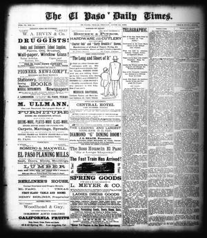Primary view of object titled 'The El Paso Daily Times. (El Paso, Tex.), Vol. 2, No. 91, Ed. 1 Friday, June 15, 1883'.