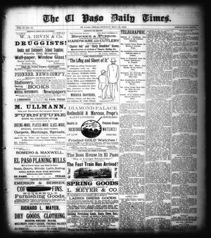 Primary view of The El Paso Daily Times. (El Paso, Tex.), Vol. 2, No. 63, Ed. 1 Sunday, May 13, 1883