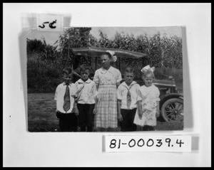 Primary view of object titled 'Picture of Children Posing in Front of Automobile #1'.