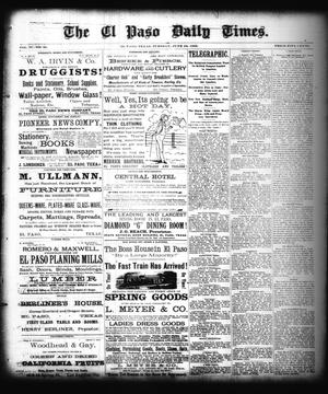 Primary view of object titled 'The El Paso Daily Times. (El Paso, Tex.), Vol. 2, No. 99, Ed. 1 Tuesday, June 26, 1883'.