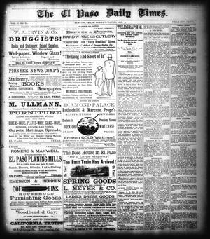 Primary view of object titled 'The El Paso Daily Times. (El Paso, Tex.), Vol. 2, No. 75, Ed. 1 Sunday, May 27, 1883'.