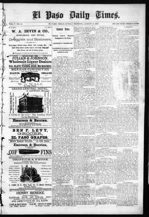 Primary view of object titled 'El Paso Daily Times. (El Paso, Tex.), Vol. 5, No. 95, Ed. 1 Sunday, August 9, 1885'.