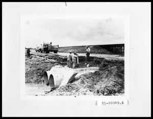 Primary view of object titled 'Road Repairs, Drainage Channel Under Road'.
