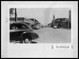 Primary view of object titled 'Looking East on Cedar from Cedar and N. 2nd in Downtown Abilene'.