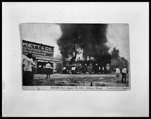 Primary view of object titled 'Fire at W.O. Wooten Grocery Warehouse #2'.