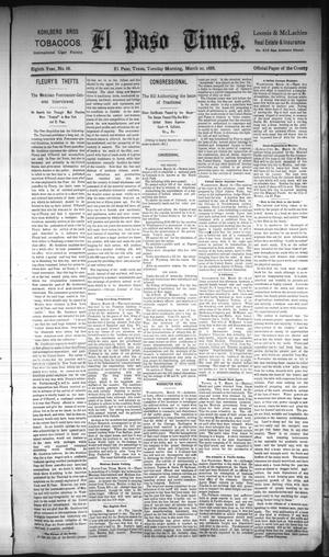 Primary view of object titled 'El Paso Times. (El Paso, Tex.), Vol. Eighth Year, No. 68, Ed. 1 Tuesday, March 20, 1888'.