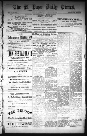 Primary view of The El Paso Daily Times. (El Paso, Tex.), Vol. 3, No. 127, Ed. 1 Tuesday, August 5, 1884
