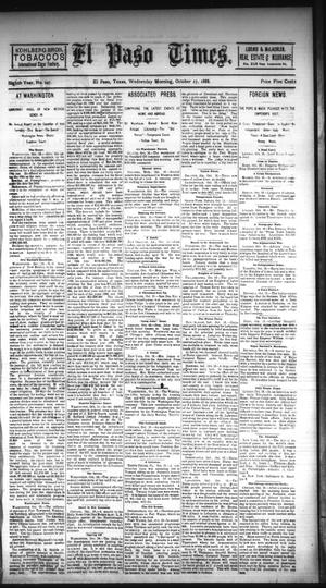 Primary view of object titled 'El Paso Times. (El Paso, Tex.), Vol. EIGHTH YEAR, No. 247, Ed. 1 Wednesday, October 17, 1888'.