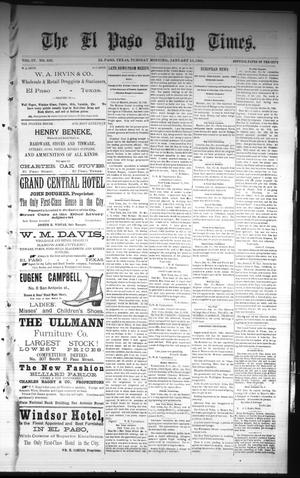 Primary view of object titled 'The El Paso Daily Times. (El Paso, Tex.), Vol. 4, No. 232, Ed. 1 Tuesday, January 13, 1885'.