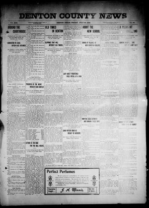 Primary view of object titled 'Denton County News (Denton, Tex.), Vol. 13, No. 28, Ed. 1 Friday, July 22, 1904'.