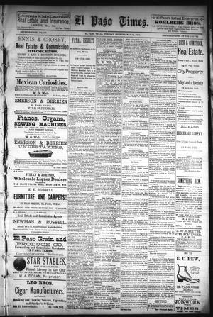Primary view of El Paso Times. (El Paso, Tex.), Vol. Seventh Year, No. 107, Ed. 1 Tuesday, May 10, 1887