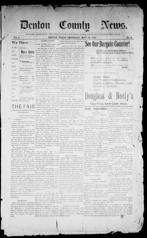 Primary view of object titled 'Denton County News. (Denton, Tex.), Vol. 5, No. 4, Ed. 1 Thursday, May 28, 1896'.