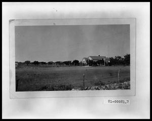 Primary view of object titled 'Side View from Across a Tilled Field of Perini House'.