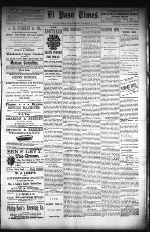 Primary view of object titled 'El Paso Times. (El Paso, Tex.), Vol. Sixth Year, No. 218, Ed. 1 Sunday, September 12, 1886'.