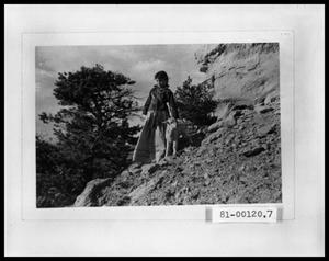 Primary view of object titled 'Girl with Lamb on Hillside'.