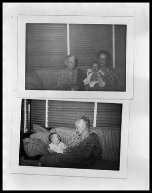 Primary view of object titled 'Picture of Rebecca W. Blake, Maxine and Charles Perini #1; Picture of Rebecca W. Blake and Charles Perini #1'.