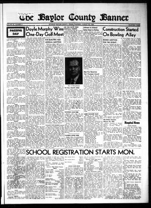 The Baylor County Banner (Seymour, Tex.), Vol. 65, No. 2, Ed. 1 Thursday, August 25, 1960