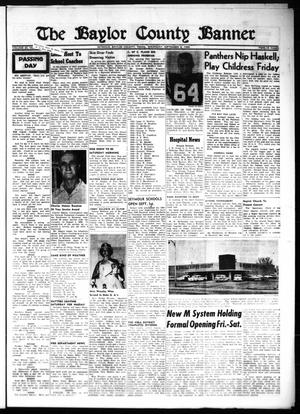 Primary view of object titled 'The Baylor County Banner (Seymour, Tex.), Vol. 65, No. [4], Ed. 1 Thursday, September 8, 1960'.