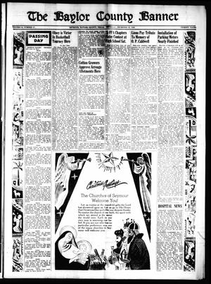 The Baylor County Banner (Seymour, Tex.), Vol. 54, No. 17, Ed. 1 Thursday, December 22, 1949