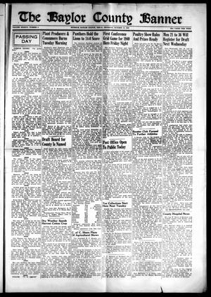 Primary view of object titled 'The Baylor County Banner (Seymour, Tex.), Vol. 46, No. 5, Ed. 1 Thursday, October 10, 1940'.