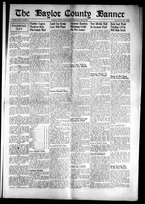 Primary view of object titled 'The Baylor County Banner (Seymour, Tex.), Vol. 45, No. 25, Ed. 1 Thursday, February 22, 1940'.