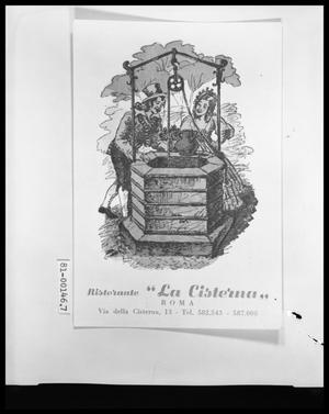 Primary view of object titled 'Postcard from Ristorante La Cistema'.