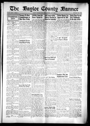 Primary view of object titled 'The Baylor County Banner (Seymour, Tex.), Vol. 46, No. 14, Ed. 1 Thursday, December 12, 1940'.