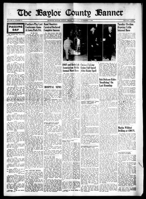 Primary view of object titled 'The Baylor County Banner (Seymour, Tex.), Vol. 54, No. 10, Ed. 1 Thursday, November 3, 1949'.