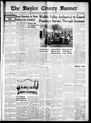 Primary view of object titled 'The Baylor County Banner (Seymour, Tex.), Vol. 54, No. 7, Ed. 1 Thursday, October 13, 1949'.
