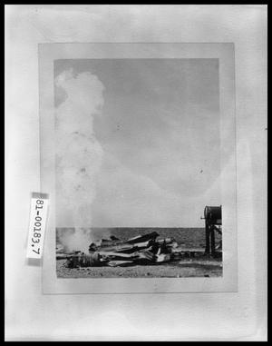 Primary view of object titled 'Gas Well Explosion'.