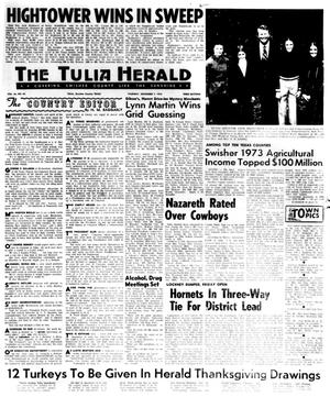 Primary view of object titled 'The Tulia Herald (Tulia, Tex.), Vol. 66, No. 45, Ed. 1 Thursday, November 7, 1974'.