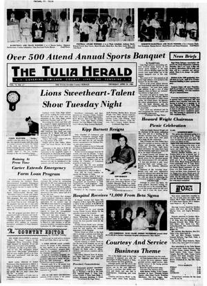 Primary view of object titled 'The Tulia Herald (Tulia, Tex.), Vol. 72, No. 17, Ed. 1 Thursday, April 24, 1980'.