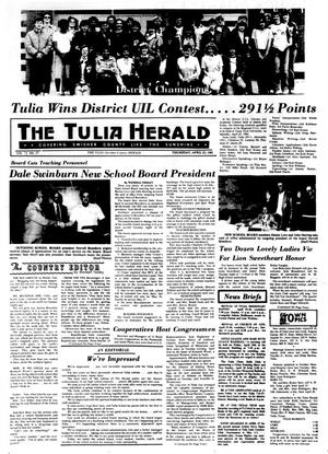 Primary view of object titled 'The Tulia Herald (Tulia, Tex.), Vol. 73, No. 17, Ed. 1 Thursday, April 23, 1981'.