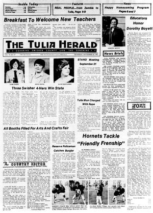 Primary view of object titled 'The Tulia Herald (Tulia, Tex.), Vol. 74, No. 37, Ed. 1 Thursday, September 16, 1982'.