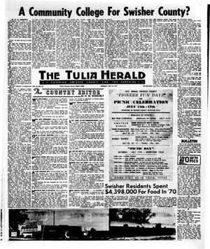 Primary view of object titled 'The Tulia Herald (Tulia, Tex.), Vol. 63, No. 28, Ed. 1 Thursday, July 15, 1971'.