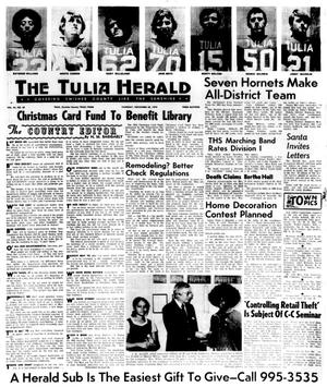 Primary view of object titled 'The Tulia Herald (Tulia, Tex.), Vol. 66, No. 48, Ed. 1 Thursday, November 28, 1974'.
