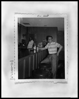 Primary view of object titled 'Jack Barnes at a Bar'.