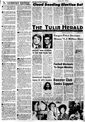 Primary view of object titled 'The Tulia Herald (Tulia, Tex.), Vol. 69, No. 31, Ed. 1 Thursday, August 4, 1977'.