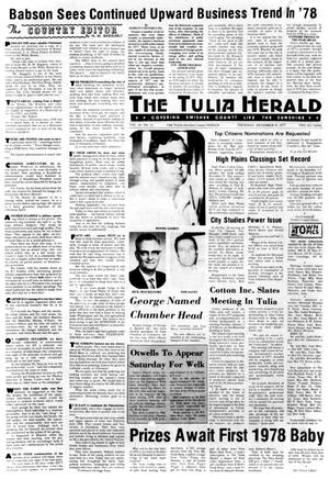 Primary view of object titled 'The Tulia Herald (Tulia, Tex.), Vol. 69, No. 52, Ed. 1 Thursday, December 29, 1977'.