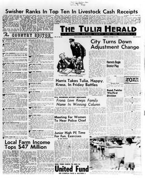 Primary view of object titled 'The Tulia Herald (Tulia, Tex.), Vol. 65, No. 42, Ed. 1 Thursday, October 18, 1973'.