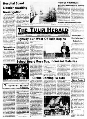 Primary view of object titled 'The Tulia Herald (Tulia, Tex.), Vol. 77, No. 16, Ed. 1 Thursday, April 18, 1985'.