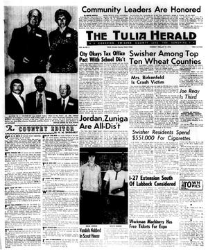 Primary view of object titled 'The Tulia Herald (Tulia, Tex.), Vol. 66, No. 8, Ed. 1 Thursday, February 21, 1974'.