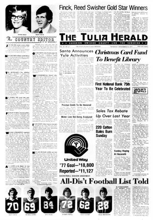 Primary view of object titled 'The Tulia Herald (Tulia, Tex.), Vol. 69, No. 47, Ed. 1 Thursday, November 24, 1977'.