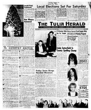 Primary view of object titled 'The Tulia Herald (Tulia, Tex.), Vol. 62, No. 14, Ed. 1 Thursday, April 2, 1970'.