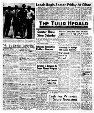 Primary view of object titled 'The Tulia Herald (Tulia, Tex.), Vol. 62, No. 37, Ed. 1 Thursday, September 10, 1970'.