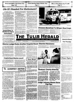 Primary view of object titled 'The Tulia Herald (Tulia, Tex.), Vol. 77, No. 18, Ed. 1 Thursday, May 2, 1985'.