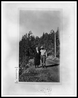 Primary view of object titled 'V.C. Perini Jr. and Emma Perini on Mountain Trail'.