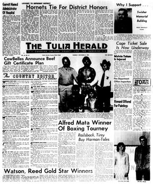 Primary view of object titled 'The Tulia Herald (Tulia, Tex.), Vol. 66, No. 47, Ed. 1 Thursday, November 21, 1974'.