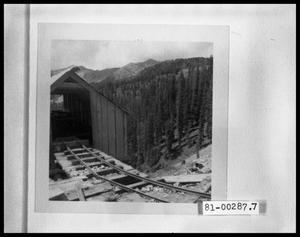 Primary view of object titled 'Abandoned Mine; Dilapitated Mine Carts'.